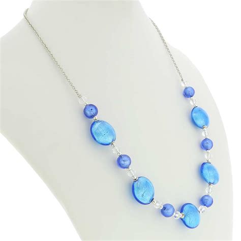 glass necklace murano necklaces oceano murano glass necklace blue