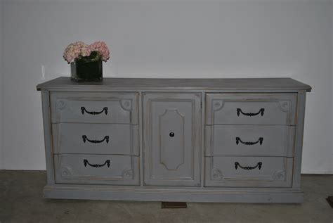 light grey large dresser buffet