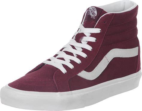 vans maroon shoes vans sk8 hi reissue shoes maroon