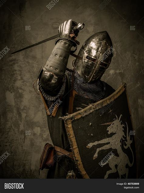 medieval knight sword shield image amp photo bigstock