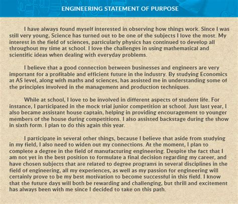Why Study Mba After Engineering by How To Write An Effective Statement Of Purpose Sop For A