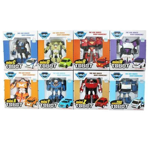 Mainan Tobot Mini Alpha Merah 1 set robot tobot transformer mainan anak smart