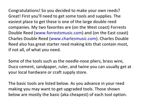 a beginner s guide to making a budget for people who can beginner s guide to bassoon reed making