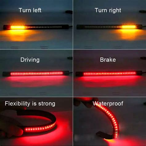 led motorcycle brake lights strips universal 32 led motorcycle light led turn signal lights motorbike brake lights
