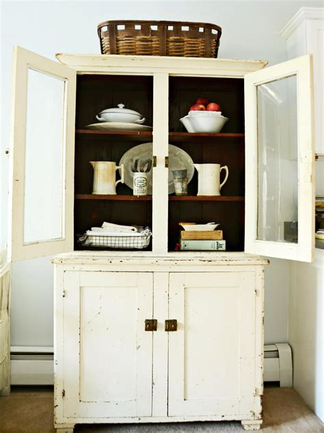 small kitchen hutch cabinets give a kitchen character with flea market finds kitchen