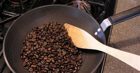 Panggangan Hock tips roasting biji kopi dengan kompor gas hock