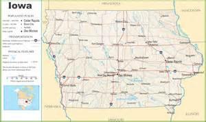 us map iowa iowa highway map