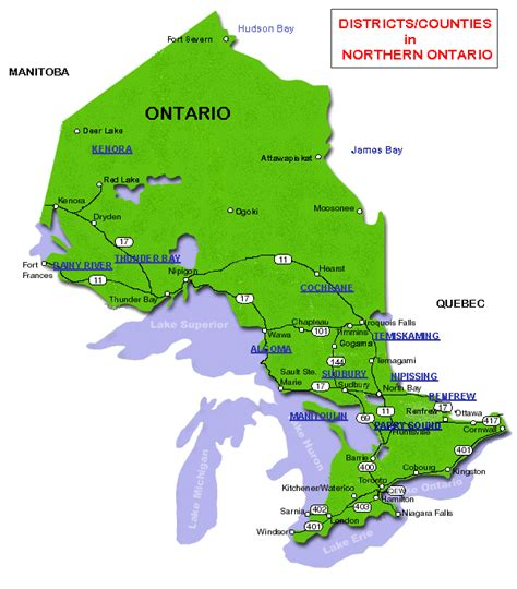 northern ontario map map of ontario contact our sales department by e mail at