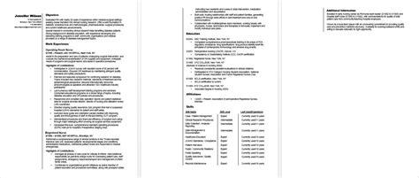 rn career change resume sample monstercom