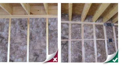 knee wall insulation wall insulation installation