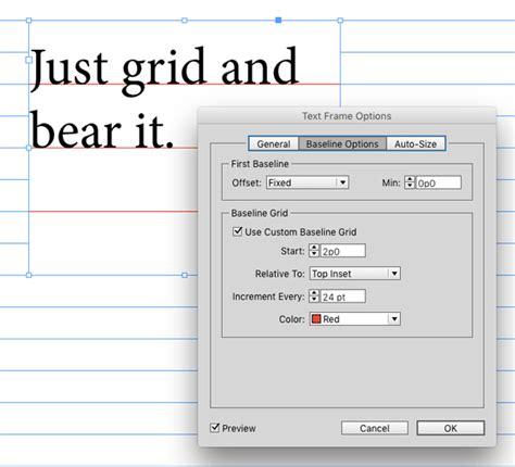 indesign tutorial baseline grid understanding the first baseline position of text