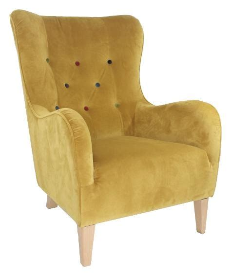 Gold Wing Back Chairs by Cento Wing Back Chair With Contrast Buttons Gold