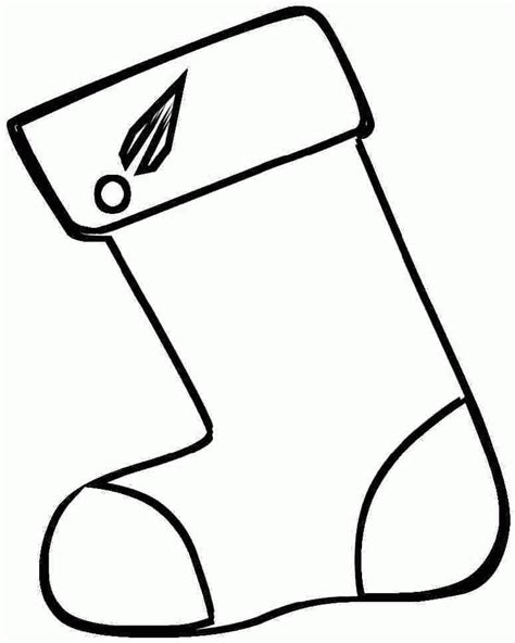 printable xmas stocking printable christmas stocking coloring pages coloring home