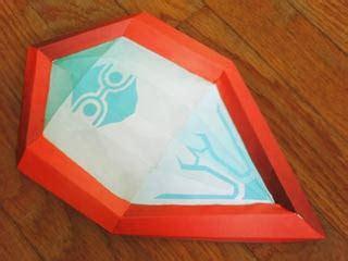 Mirror Paper Craft - papercraft mirror shield paperkraft net free