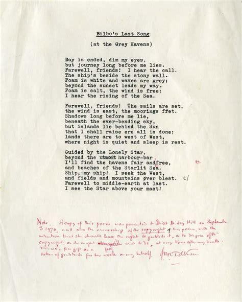 Bilbos Last Song By Jrr Tolkien Ebook j r r tolkien s bilbo s last song nerdalicious