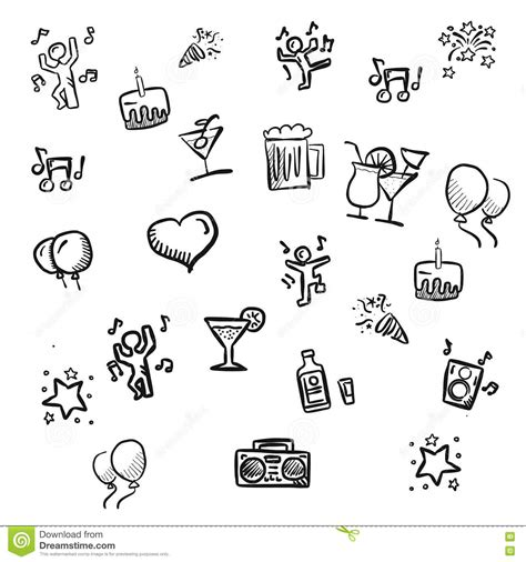 how to draw simple doodle set of doodles vector