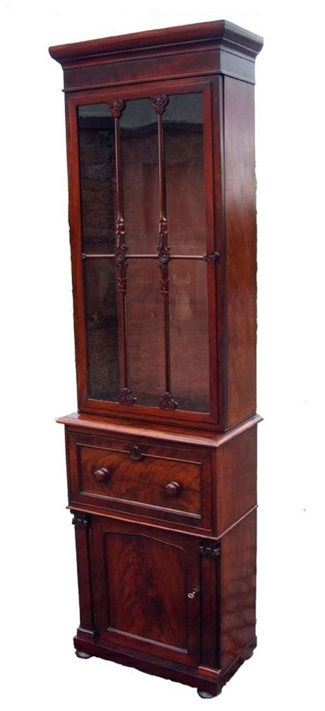 narrow mahogany bookcase antique regency narrow mahogany bookcase 87364