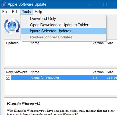 apple update disable apple software update alert in windows 10