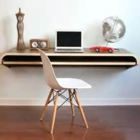 orange 22 floating desk compact wall mount work desk nubo by ligne roset