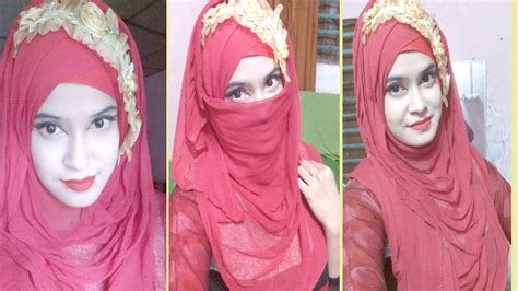 hijab with niqab tutorial youtube gorgeous hijab niqab tutorial boishakhi youtube