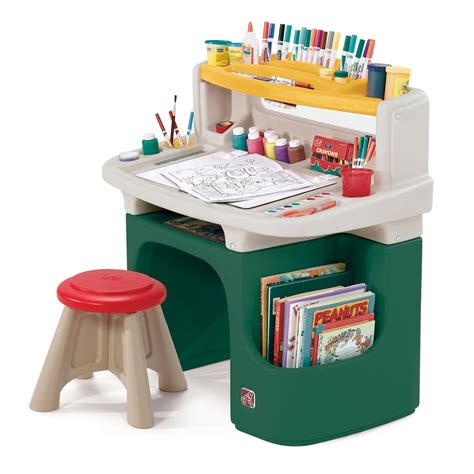 kids art desk art master activity desk art desks step2