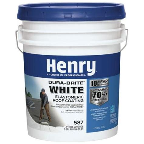 Premium Kitchen Faucets henry 4 75 gal 587 white roof coating he587871 the home