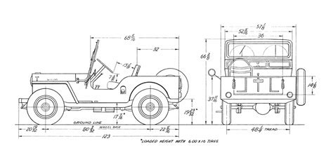 Willys Jeep Plans Willys Overland Cj 3a Blueprint Free Blueprint