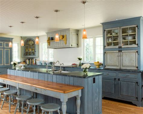 White Cabinets Gray Walls by Light Blue Kitchen Cabinets Houzz