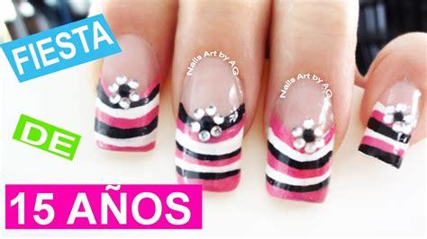 imagenes de uñas acrilicas para fiestas decoraci 243 n de u 241 as para fiesta de 15 a 241 os youtube