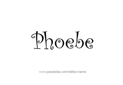 phoebe tattoo designs phoebe mythology name designs page 5 of 5
