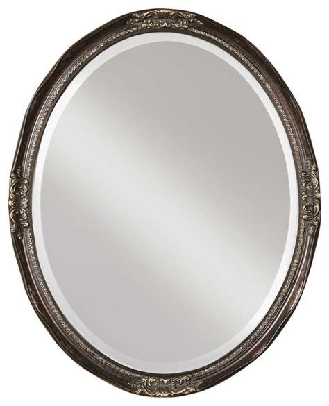 Uttermost Mirrors Oval by Uttermost Newport Oval Bronze Mirror Traditional Wall