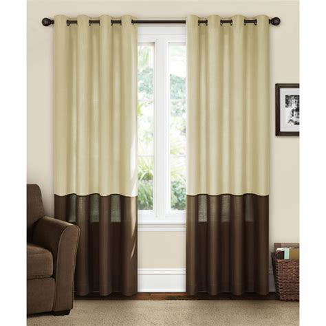 two colour curtains canopy lined color band grommet panel walmart com