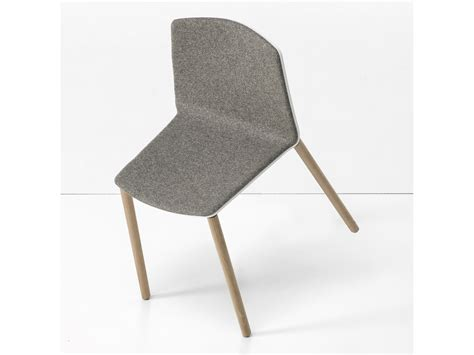 Padded Stackable Chairs by Upholstered Stackable Chair Rama Wood Base By Kristalia
