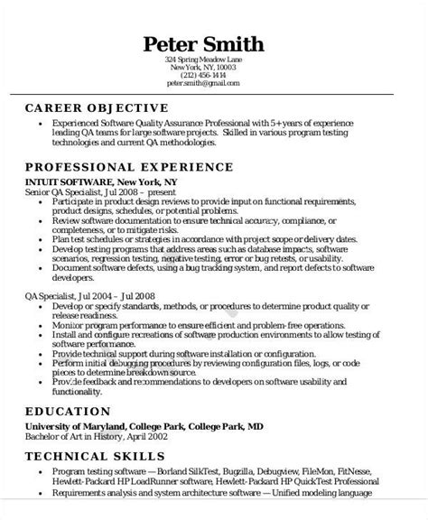 entry level qa resume sample job and resume template