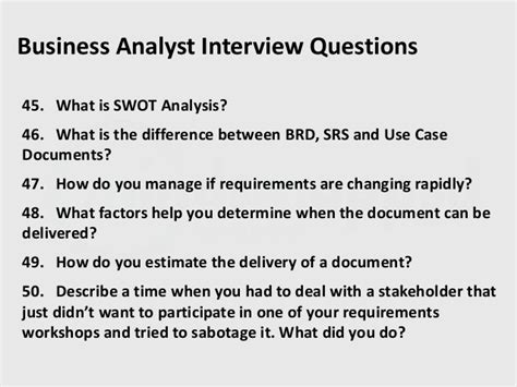 interview questions for corporate biography business analyst interview questions part 2