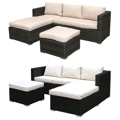 garden rattan sofa sets bentley garden l shaped rattan outdoor sofa set
