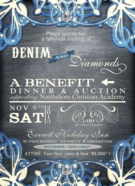 Denim and Diamonds   MCCS Auction ideas   Pinterest