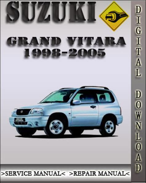car service manuals pdf 2001 suzuki grand vitara security system 1998 2005 suzuki grand vitara factory service repair manual 1999 20