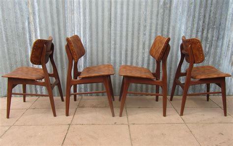 retro eetkamerstoelen goedkoop vintage retro teak en skai stoelen eetkamerstoelen