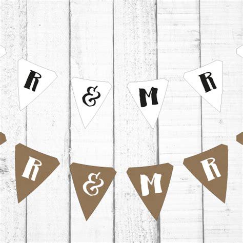 Kostenlose Vorlage Hochzeit Diy Hochzeit Girlande Wimpel Basteln Miomodo Diy