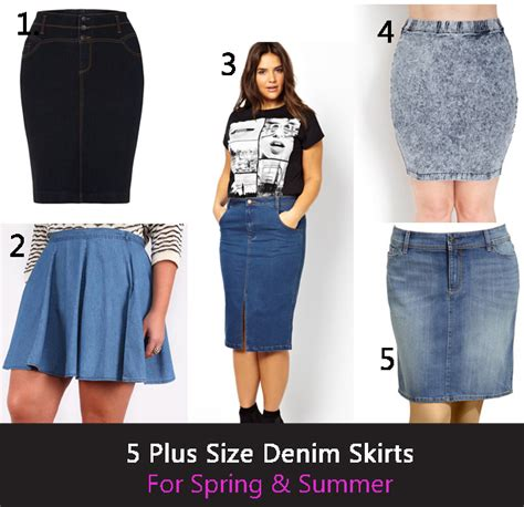 5 denim plus size skirts for and summer stylish