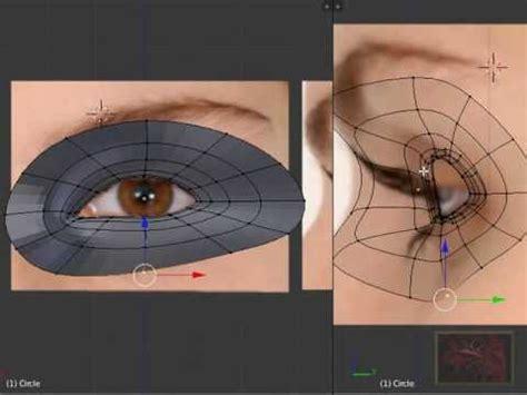 eye tutorial in blender blender 3d tutorial character eyes and head modeling by