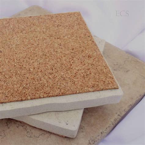 pack of 10 or 20 cork squares 6 x 6 cork tile backing