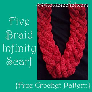 ravelry: five braid infinity scarf pattern by susie oui
