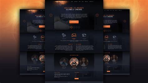 tutorial web design by photoshop make a dark style website design photoshop tutorial youtube