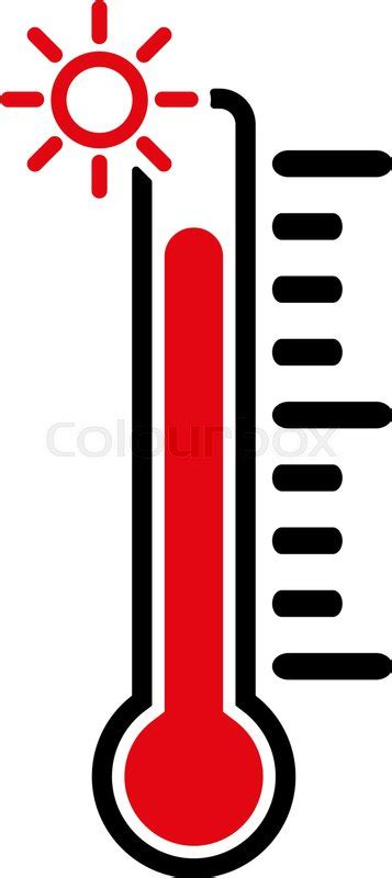 High Heat the thermometer icon high temperature symbol flat vector