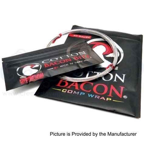 Cotton Bacon By Wick N Vape Authentic authentic wick n vape cotton bacon comp wrap 20awg heating wires