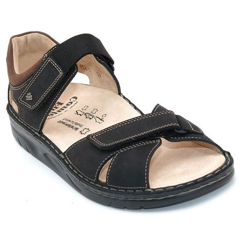 Finn Comfort Samara by Finn Comfort Samara Nubuck Soft Footbed Black Happyfeet