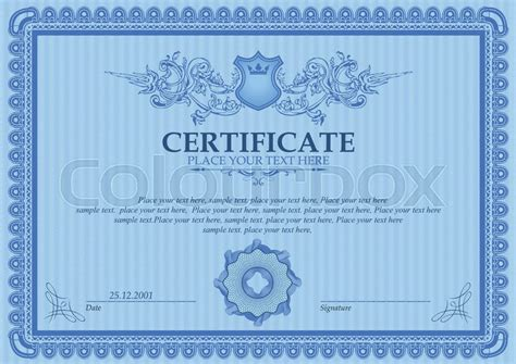 coupon certificate template certificate or coupon template with vintage border stock