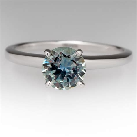 blue green sapphire engagement montana blue green sapphire ring in 18k white gold